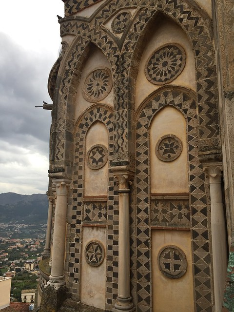 Architectural details of the Monreale Cathedral in Sicily.