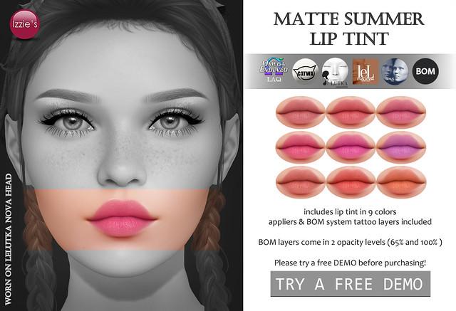 Matte Summer Lip Tint (TLC)