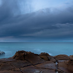 4. Juuli 2020 - 6:29 - Overcast Sunrise Seascape from North Avoca Beach on the Central Coast, NSW, Australia.