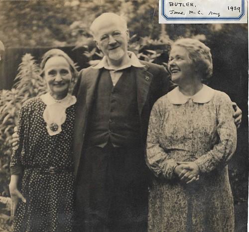 Montagu Christie and Amy Butler plus cousin Jane