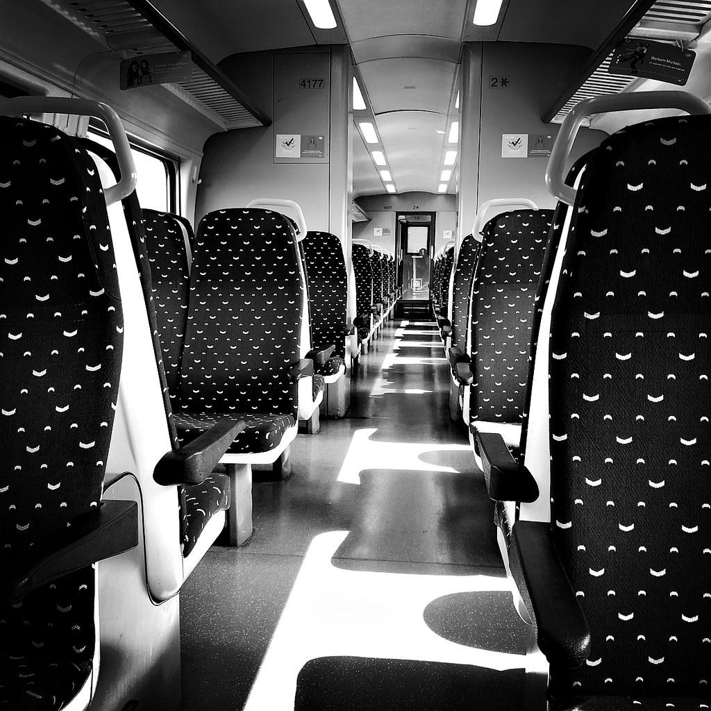 Empty train in corona times
