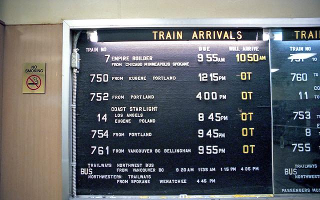 Seattle Train Service in 1999