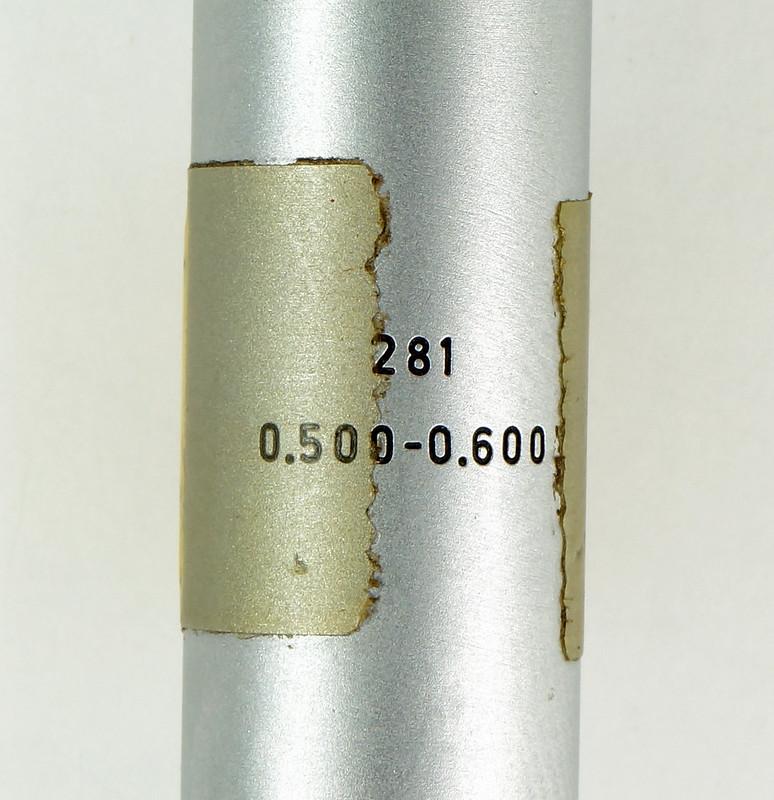 RD30619 Brown & Sharpe Internal Micrometer .5-.6 inch Range 1div=.0002 inch DSC08730