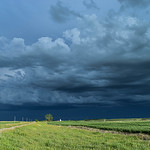3. Juuli 2020 - 18:33 - Looking East as the storm comes over Chamberlain, Saskatchewan, Canada.