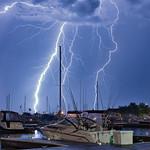 21. Juuli 2019 - 1:46 - Lightning Over ReefPoint Marina,Racine,WI