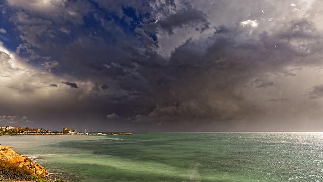 Lluvia en el mar