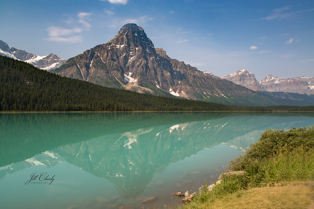 Armchair Traveling - Reflections of Glaciers, Banff, Canada