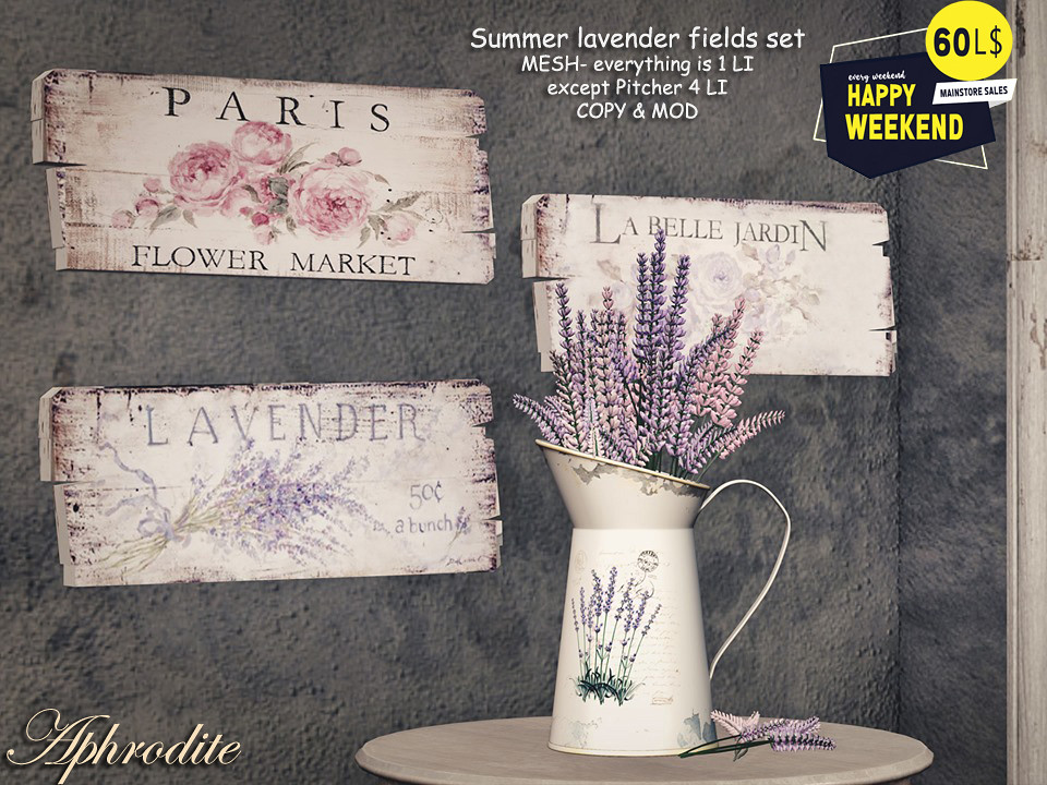 60L OFFER – Aphrodite lavender collection