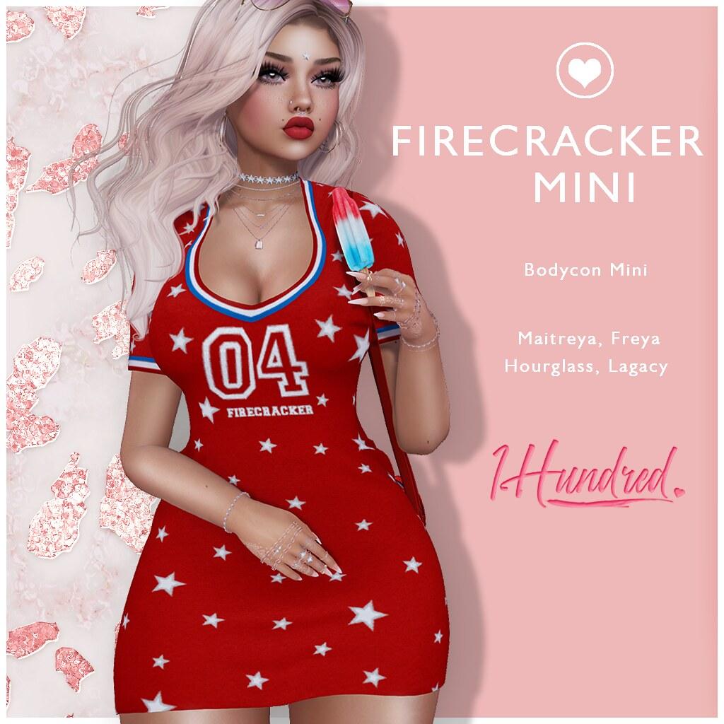 1 Hundred. Firecracker Mini Dress SATURDAY SALE!