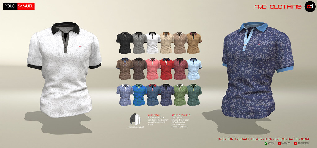 ! A&D Clothing – Polo -Samuel-   NewRelease