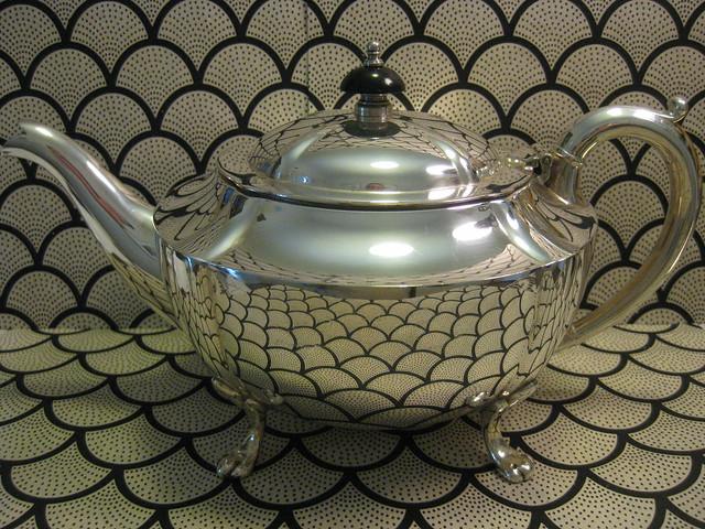 A Sterling Silver Georgian Revival Teapot