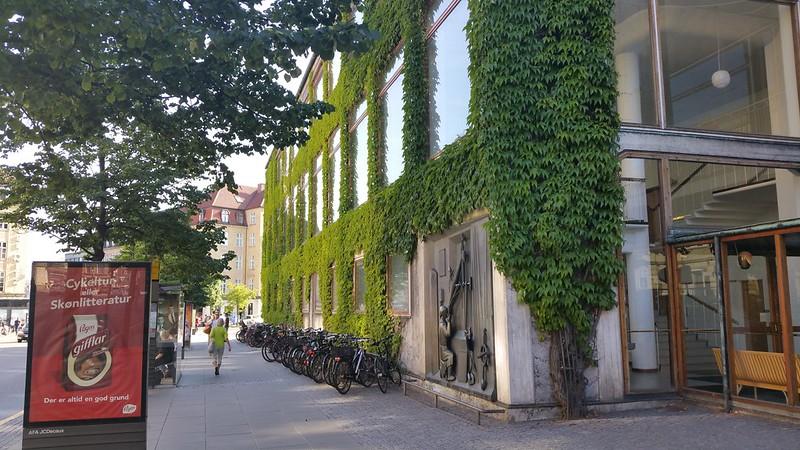 Groene gevel, gemeentehuis Aarhus