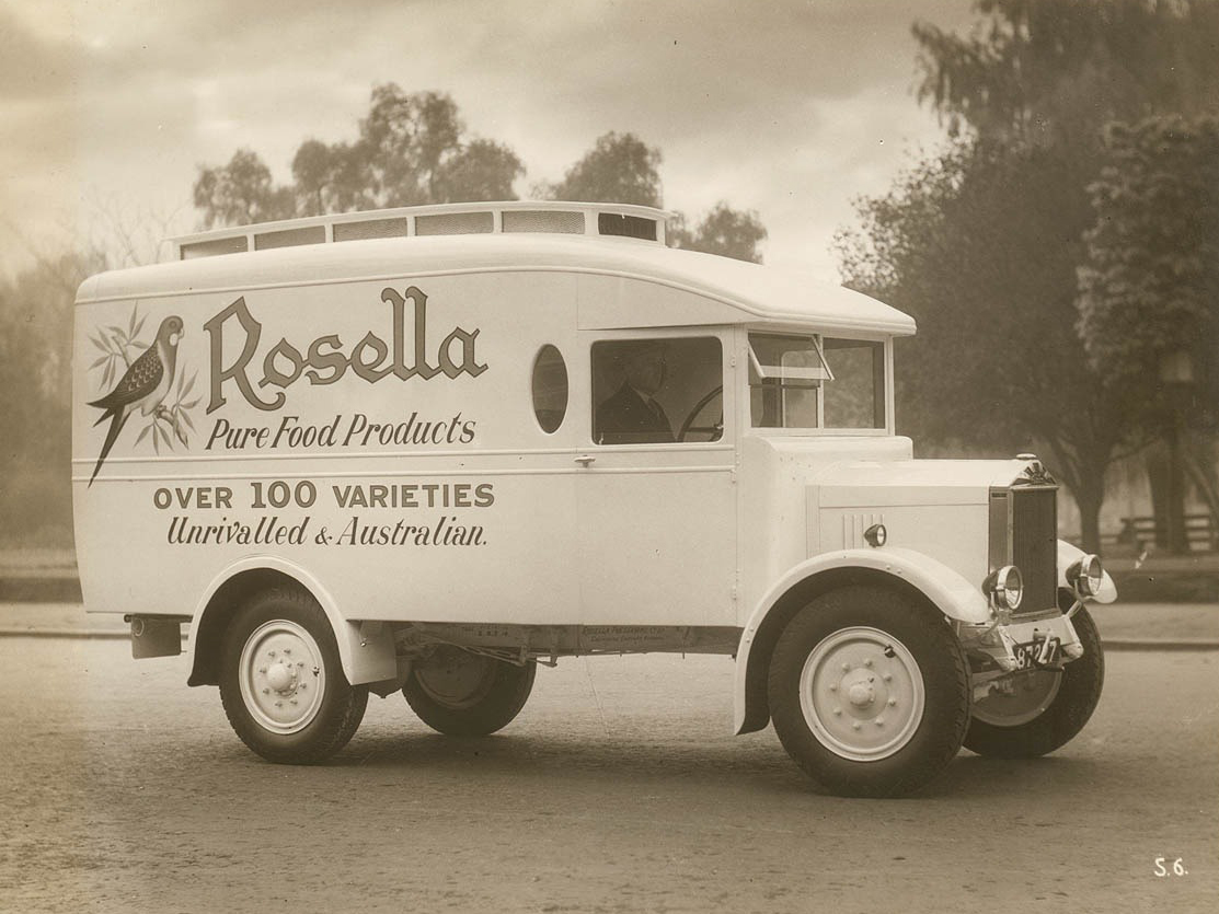 Rosella delivery truck, Australia, ca. 1930, Peter Anderson Collection