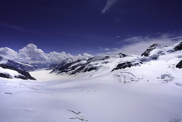 View of the Aletsch glacier from the Jungfraujoch - Bern/Wallis - Switzerland