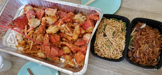 lobster feast and noodles brunch