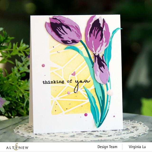 Altenew-GeometricLandscapeStencil-Craft-a-Flower-Tulip