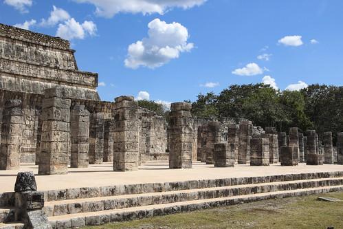 Temple of the Warriors (Templo de los Guerreros), Chichen Itza, Mexico's Yucatán Peninsula