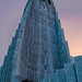 Hallgrimskirkja standing tall in Reykjavik