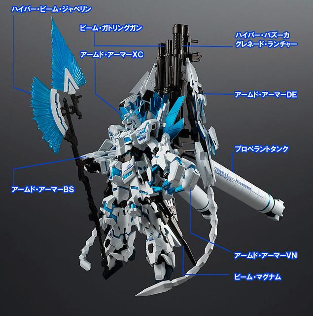 全部武裝尬上去!ROBOT魂《機動戰士鋼彈UC》完全裝備型獨角獸鋼彈・DIVINE(ユニコーンガンダム ペルフェクティビリティ・ディバイン)