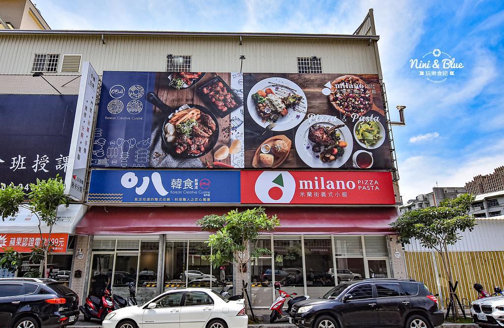 台中米蘭街 O八韓食 中科美食01