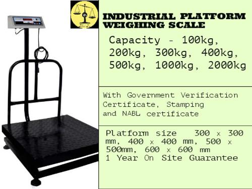 Industrial platform weighing scale