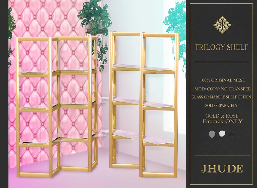Trilogy Shelf ad