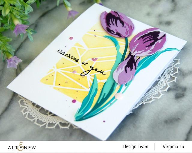 Altenew-GeometricLandscapeStencil-Craft-a-Flower-Tulip#3