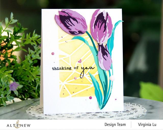 Altenew-GeometricLandscapeStencil-Craft-a-Flower-Tulip#2