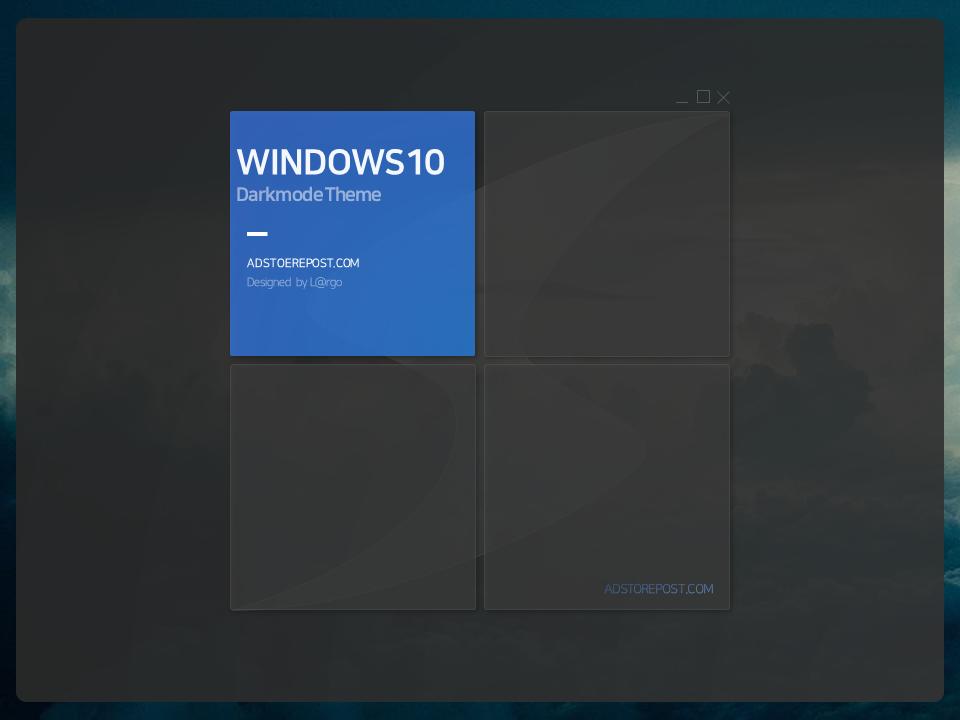 윈도우10 무료PPT 다크모드 다운