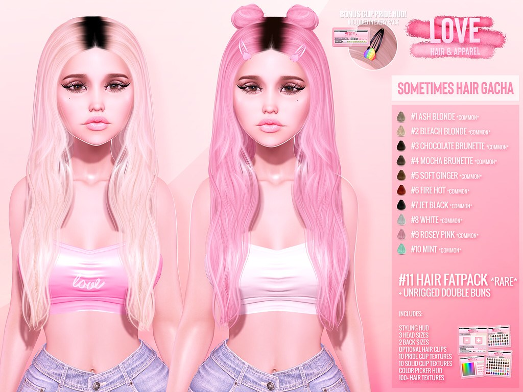 Love ✨💥NEW [Sometimes Hair] Gacha @ The Kawaii Project! & GIVEAWAY!✨💥