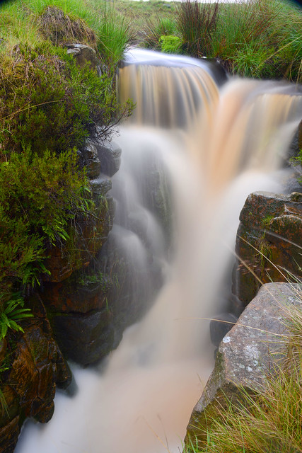 RAKE BROOK WATERFALL, WITHNELL, LANCASHIRE, ENGLAND.
