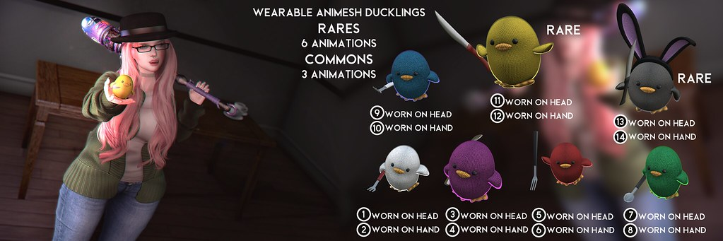 Skellybones Wearable Animesh Ducklings @ Gachaland