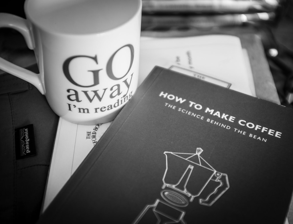 Go away, I'm reading how to make coffee