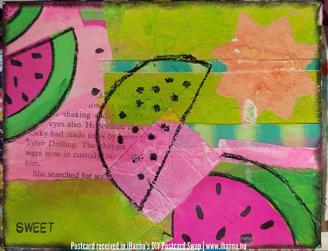 DIY Postcard for iHanna made by Cathy G, Connecticut US
