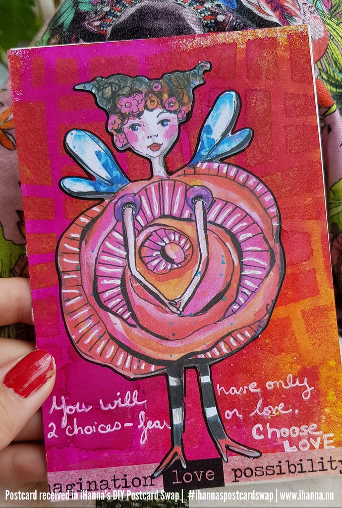 DIY Postcard for iHanna made by Susan, Maryland, US