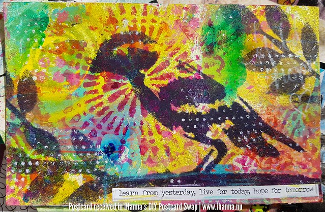 DIY Postcard for iHanna made by Jen, California, US