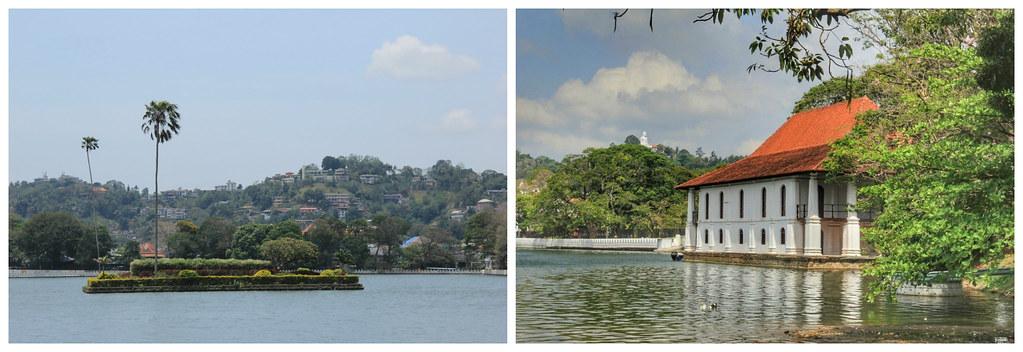Kandy Lake, with the Bahirawakanda Vihara Buddha Statue in the background