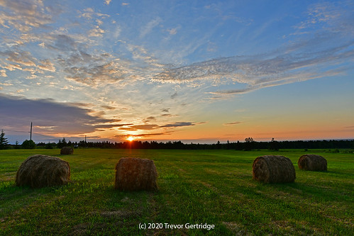 sunrise country countryside farm field summer july 2020 4thofjuly july4th moncton newbrunswick nouveaubrunswick canada nature landscape nikon sigma sigmaart sigmaart14mm d7500 sky clouds hay bales