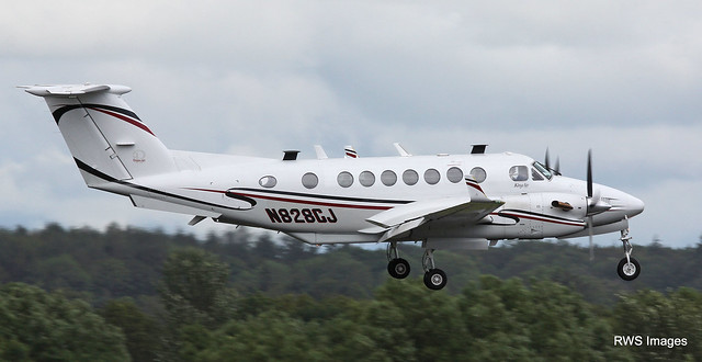 N828CJ Beech 350 Super King Air Lasai Aviation LLC,landing at Prestwick from BIRK. 27/6/20