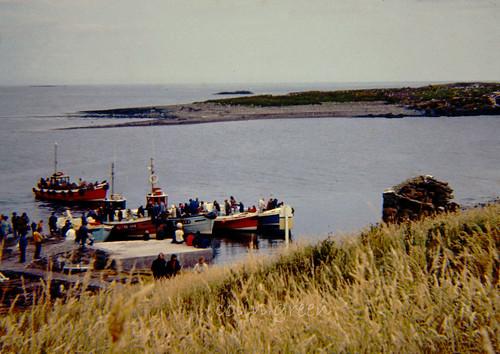 Boat Trip Departing at Farne Islands 1973