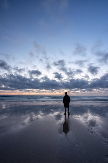 Hayle and Godrevy beach Cornwall UK