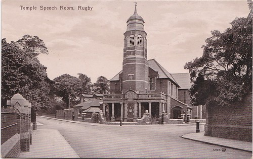 Temple Speech Room, Rugby - Vintage Postcard