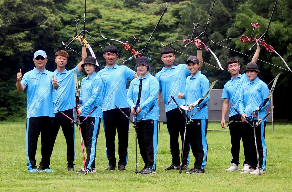 台南射箭隊5比0完勝寒舍,拿下隊史及企箭2年首場完勝紀錄。(中華企業射箭聯盟/提供)
