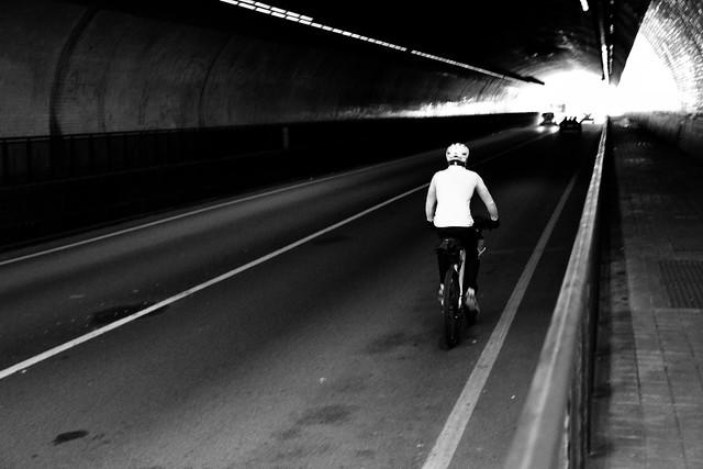 In the tunel