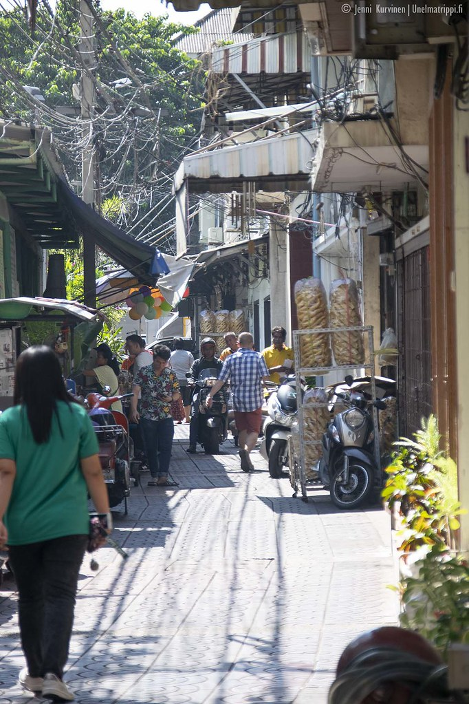 Bangkokin katunäkymää