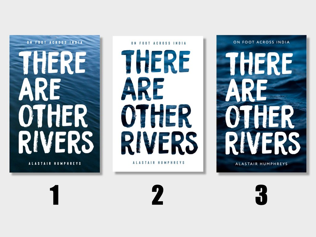 Seeing as more than 700 of you seemed to enjoy picking a cover design for my India book... Here's another round! 1, 2, or 3? (These are iterations of the design that 'won' the previous round by a considerable margin.) Thanks everyone! #ThereAreOtherRivers