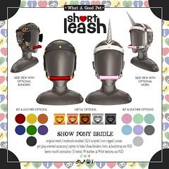.:Short Leash:. Show Pony Bridle