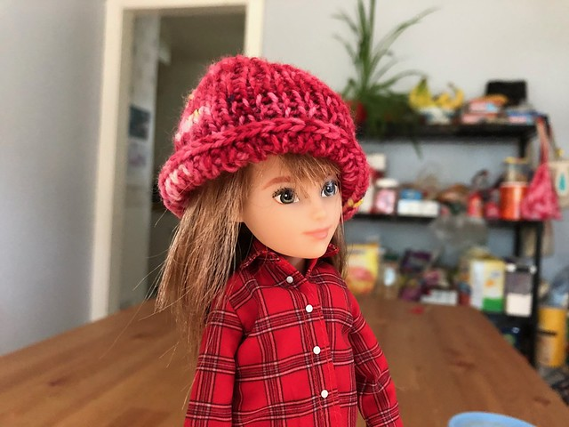 Doll hat (with long hair)