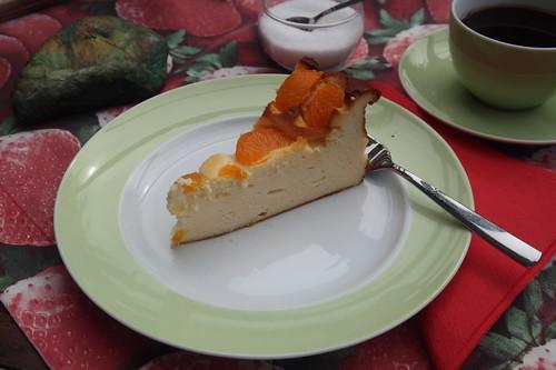 Käsekuchen mit Mandarinchen (mein 1. Stück)