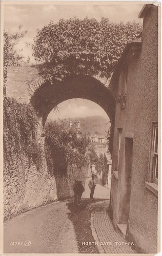 Northgate, Totnes Vintage Postcard